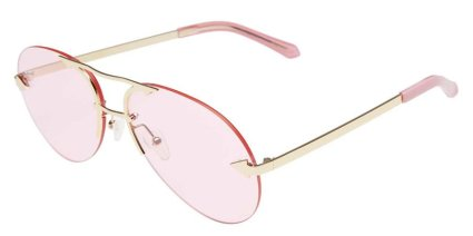 Karen Walker Love Hangover aviator sunglasses with pink lenses as seen on Rihanna DJ Khaled Wild Thoughts video